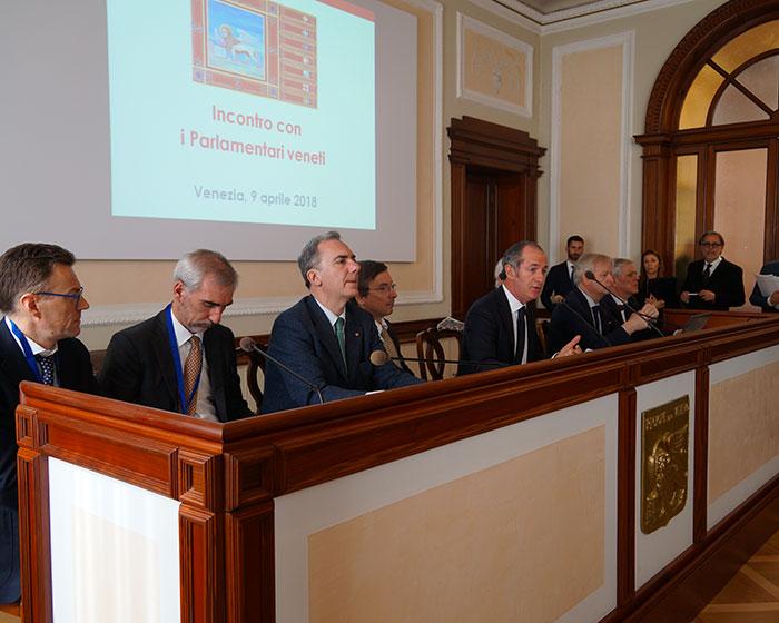 Luca Zaia incontra i neo parlamentari veneti: